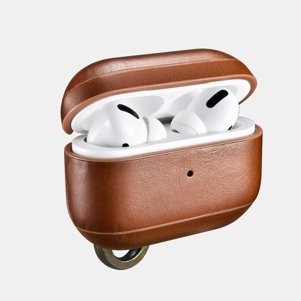 Airpods Pro Leather Case with Keychain