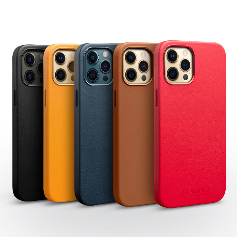 Genuine Leather Magnetic Case for iPhone 12
