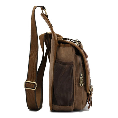 Men Retro Canvas Travel Shoulder Bags Messenger Bag