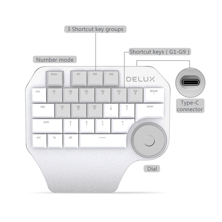Delux Designer keypad - Perfect Assistant for Designers