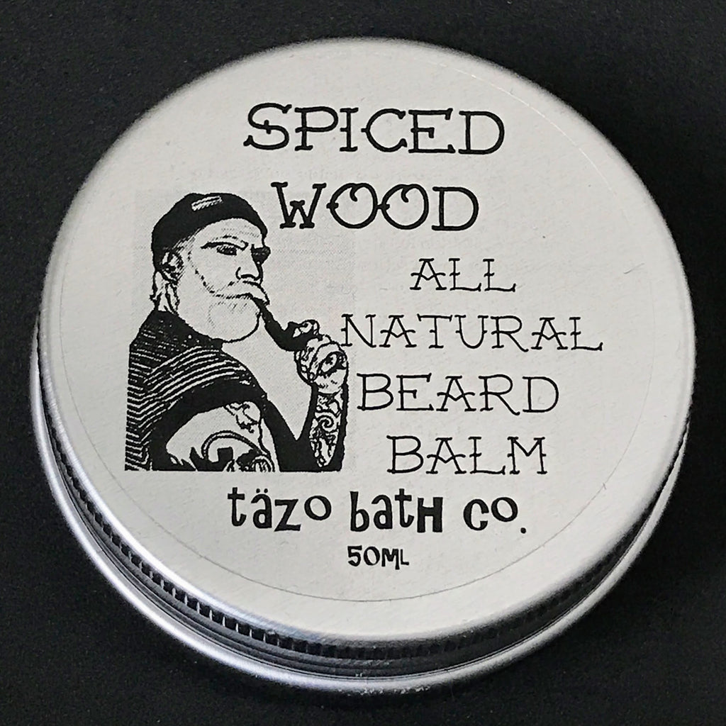 spiced wood beard balm