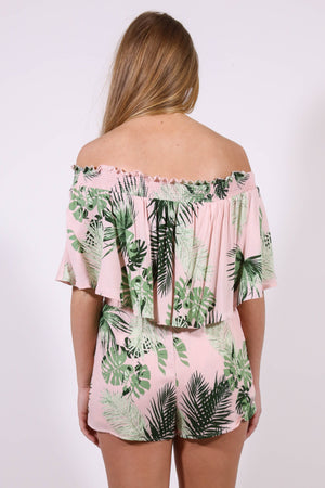 Beverly Hills Tropical Romper, Pink