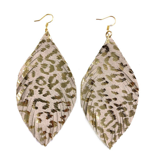 Cheetah Earring, Gold