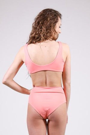 Knot Your Basic Swim Top, Coral