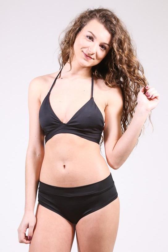 Bikini Top Swimsuit, Black