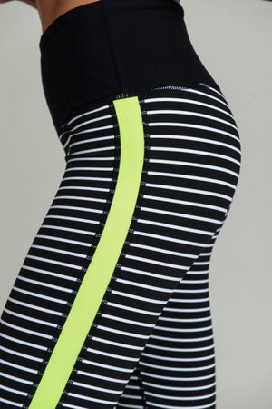 Block Neon Stripe Leggings, Multi