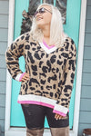 Sassy Leopard Sweater, Multi
