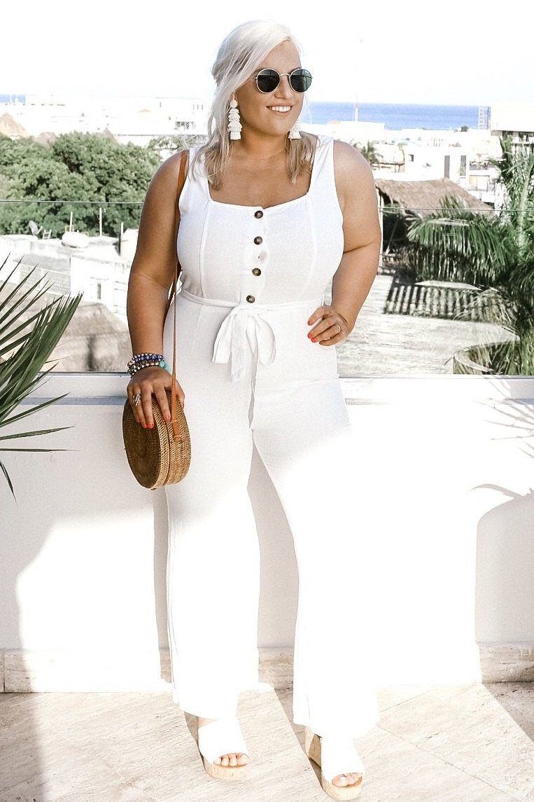 To Die For Jumpsuit, White