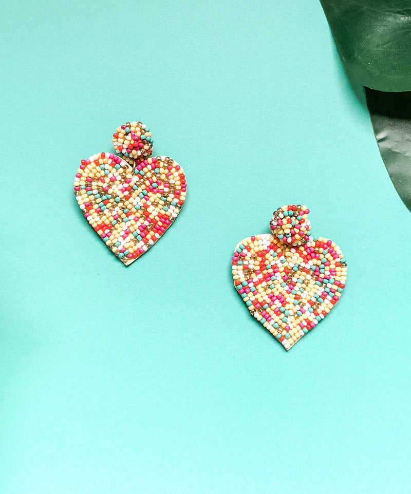 Heart Eyes Earring, Multi