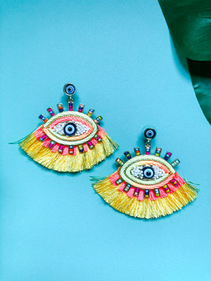 Evil Eye Earring, Rainbow