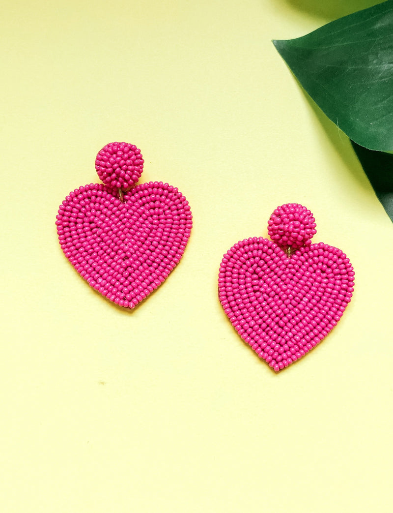 Heart Eyes Earring, Pink