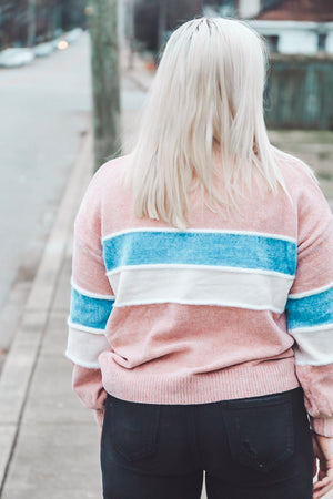 Cotton Candy Sweater - Mauve