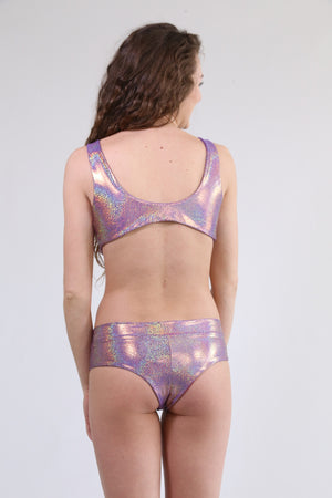 Revibe Sparkle Swim Bottoms, Purple