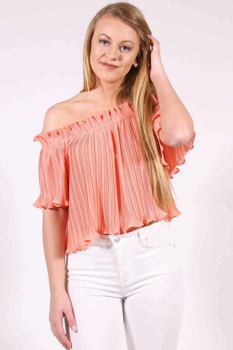 Just Peachy Chiffon Top, Peach