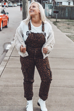 Over It Overalls, Leopard