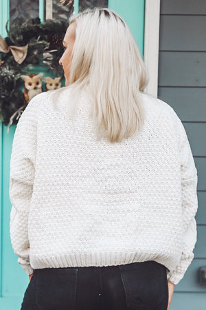 White Christmas Sweater, Ivory