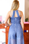 Stripe Galore Jumpsuit, Indigo Blue