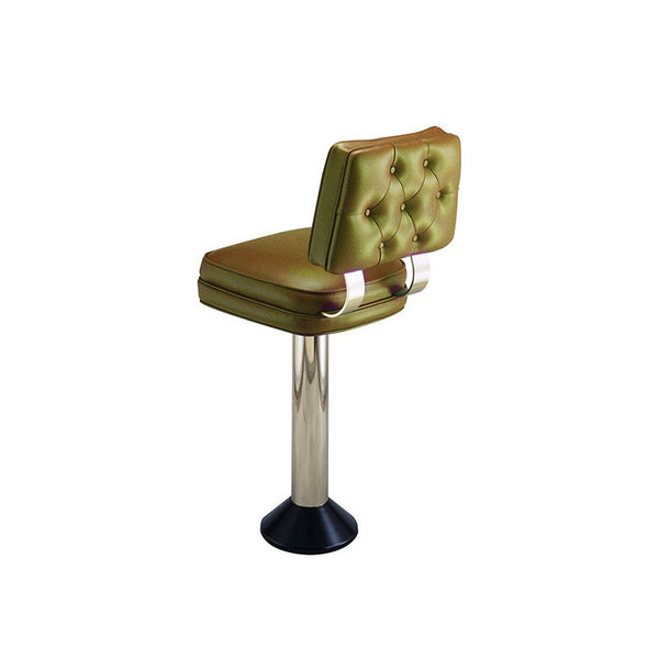 Retro Style Counter Stool w/ tufted back - Mounted