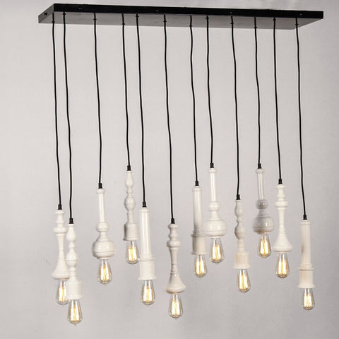 Mortimer Rectangular Chandelier (12 Pcs)
