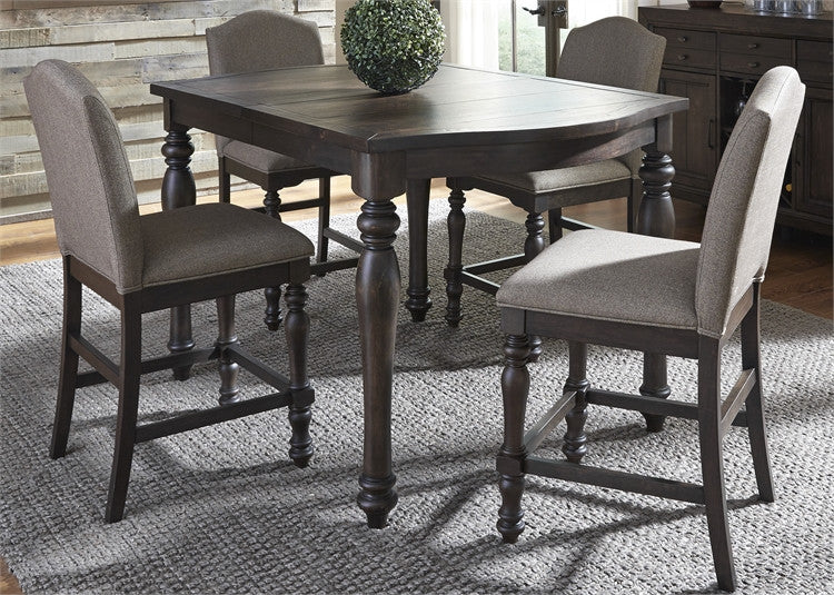 Catawba Counter Height Dining Table With 4 Stools From Liberty Furniture