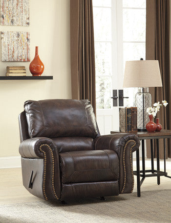 Bristan Leather Rocker Recliner By Signature Design