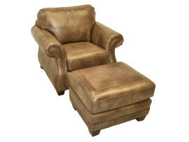 Apache Leather Chair And Ottoman By LaCrosse