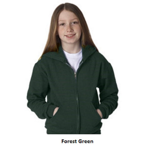 Jerzee Youth Full Zip Sweatshirt