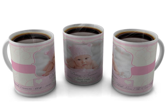 Birth Announcement Mug
