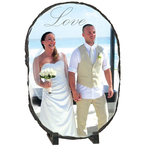 Oval Personalized Rock Plaque