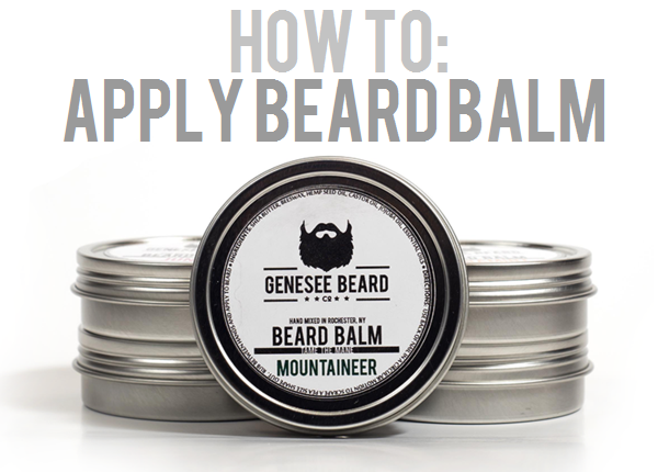 Applying Beard Balm
