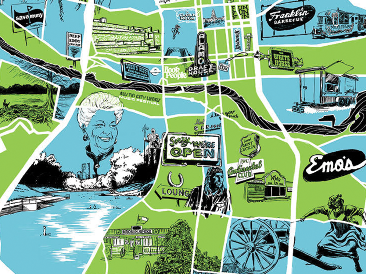 AUSTIN MAP by Chris Bilheimer