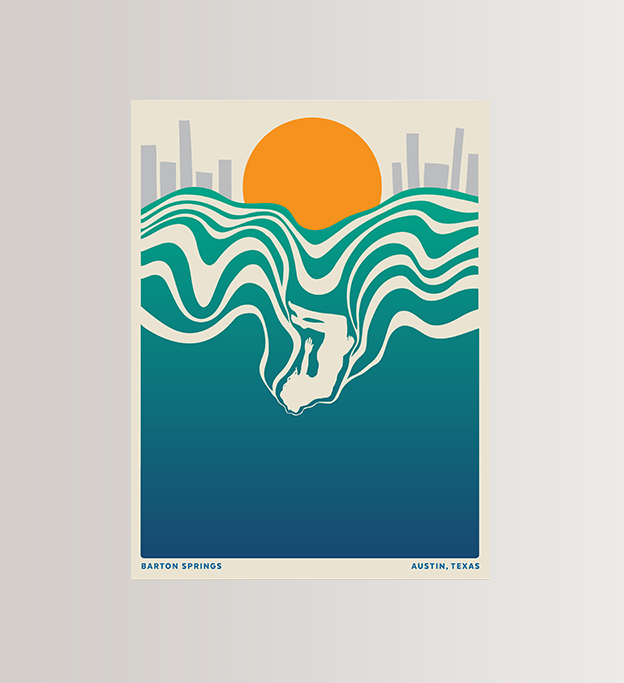 AUSTIN ART PRINT, LIMITED EDITION