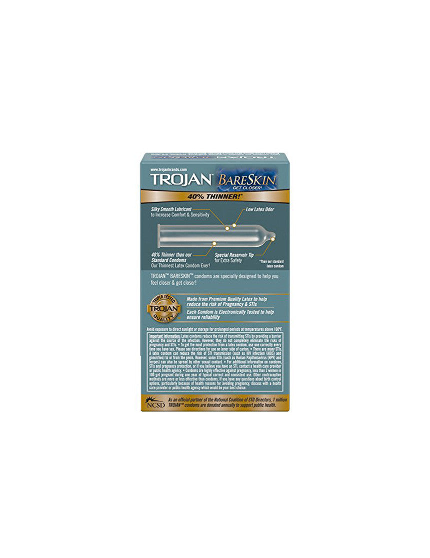 TROJAN | Bareskin Condoms | 10 Pack