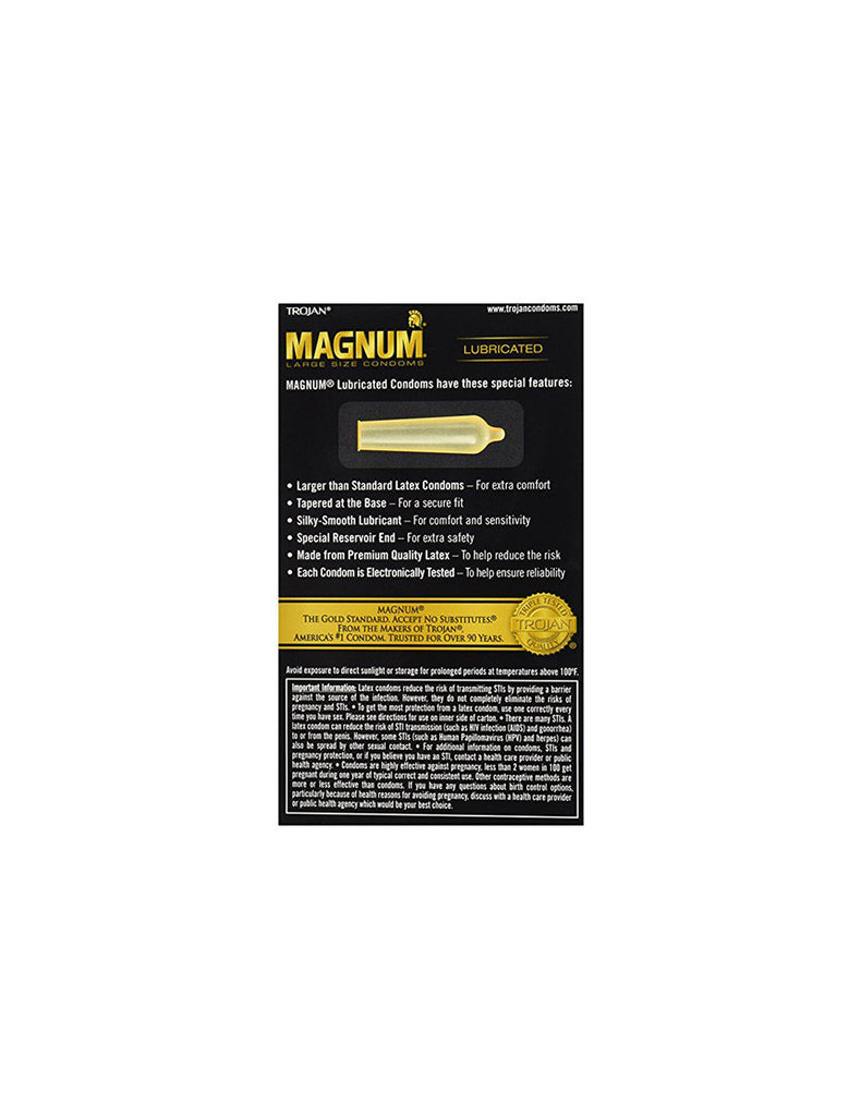TROJAN | Magnum Condoms | 12 Pack