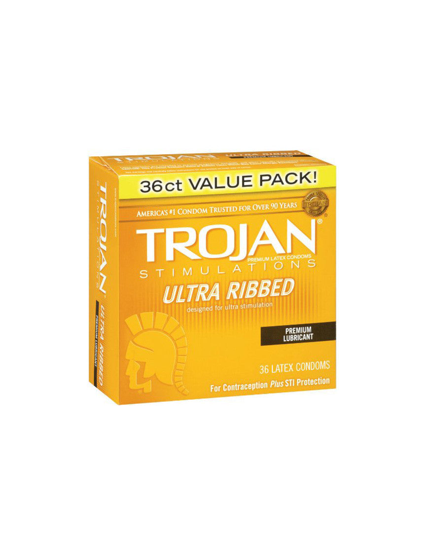 TROJAN | Ultra Ribbed Condoms | 36 Pack
