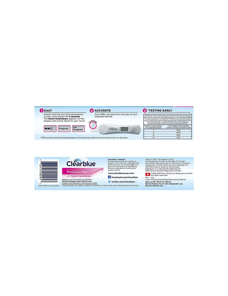 ClearBlue | Pregnancy Test | 5 Pack