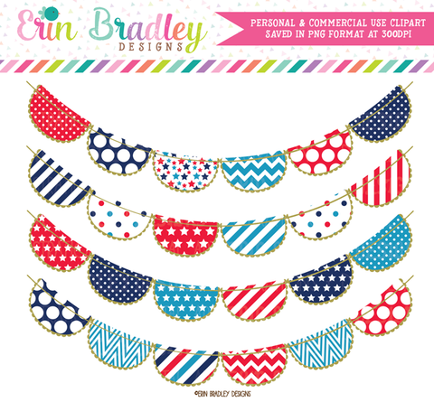 4th of July Party Bunting Clipart