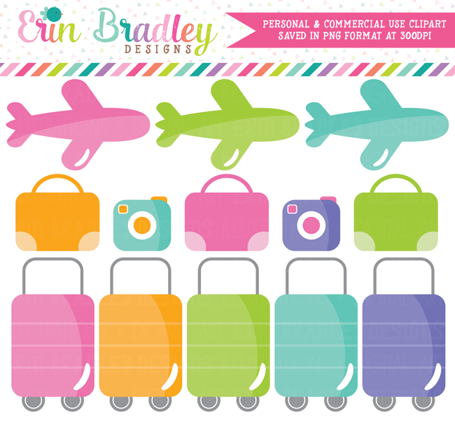 Airplane Travel Clipart