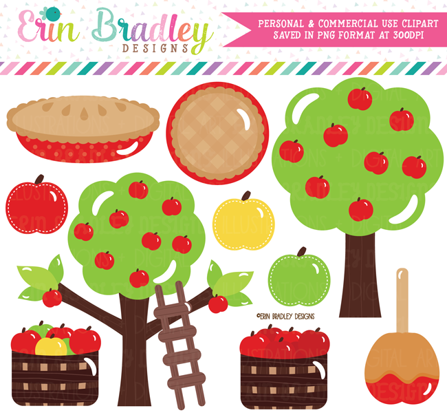 Apple Picking Fall Clipart