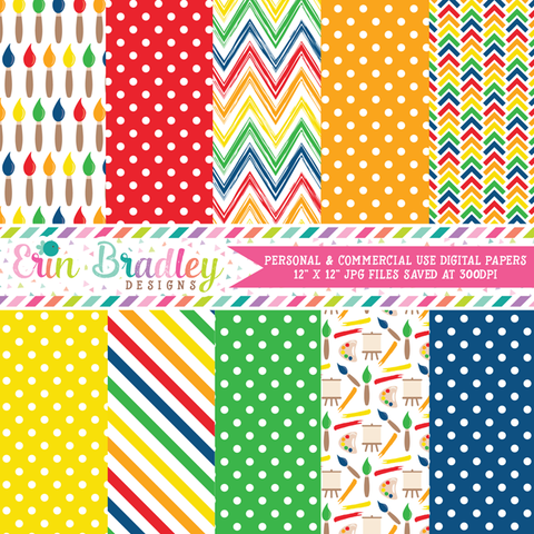 Art Party Digital Paper Pack