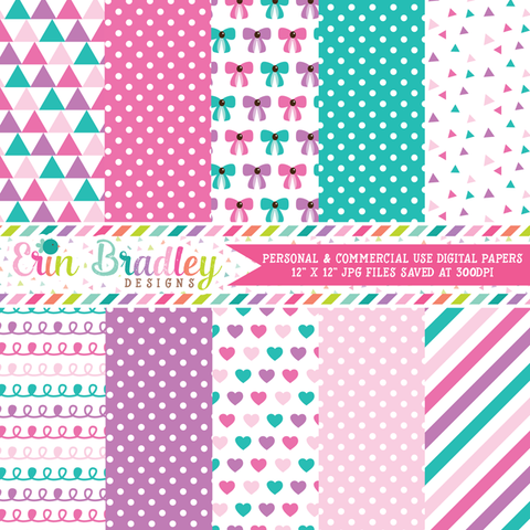 Baby Girl Pinks Digital Paper Pack