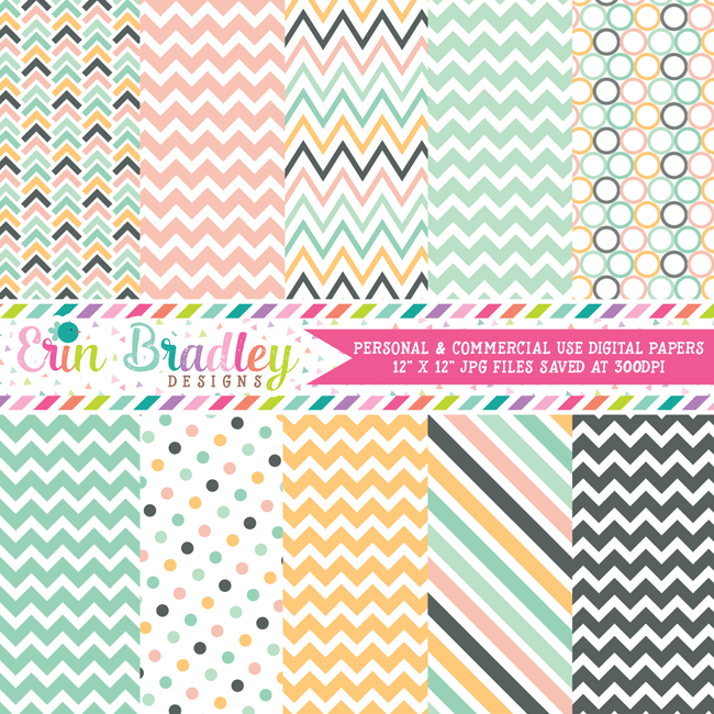 Beach Days Digital Paper Packs