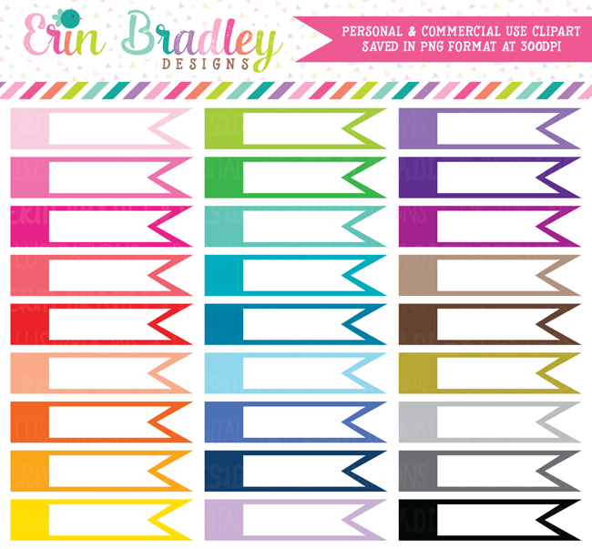 Blank Side Flags Clipart