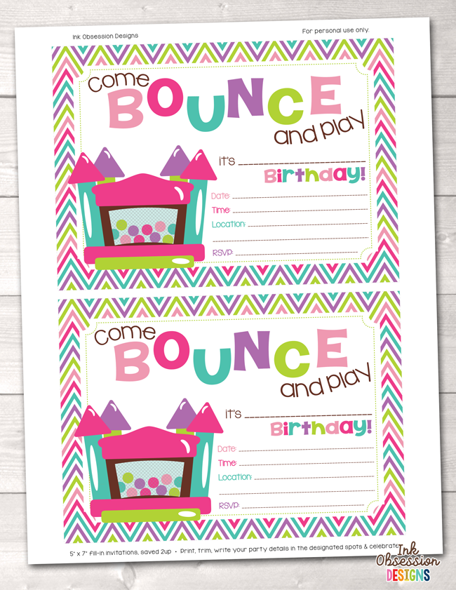 picture relating to Printable Birthday Invitations for Girl named Ladies Leap Place Printable Birthday Bash Invitation