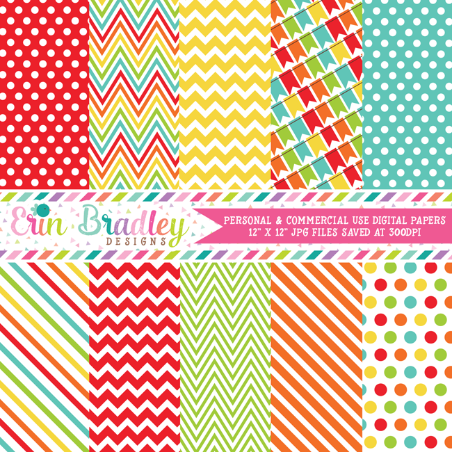 Bounce House Digital Paper Pack