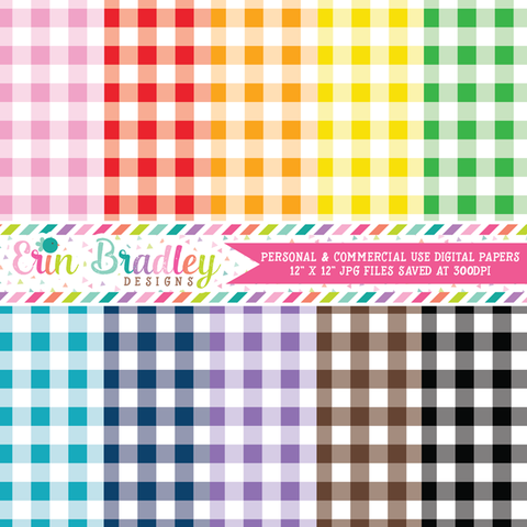 Buffalo Check Digital Paper Pack - Set One - 40 Colors