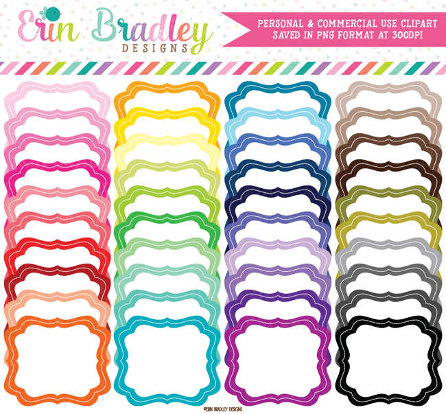 Colorful Frames Clipart