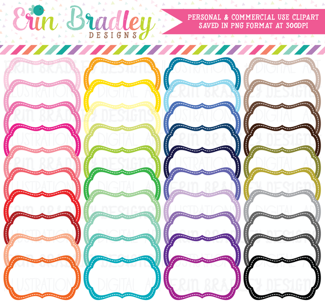Digital White Labels Clipart