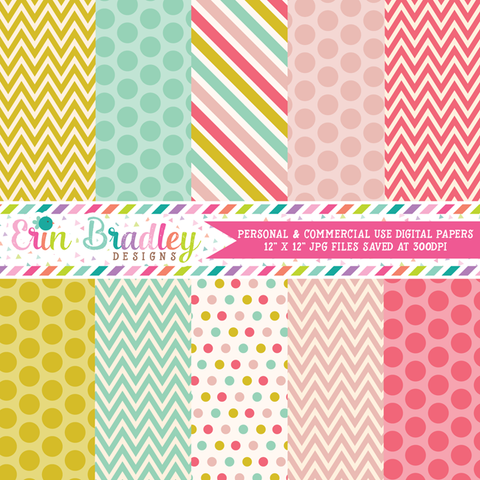 Cheerful Medley Digital Paper Pack