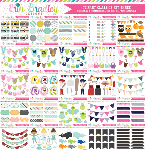 Clipart Classics - Clipart Bundle Set Three - 100 Sets